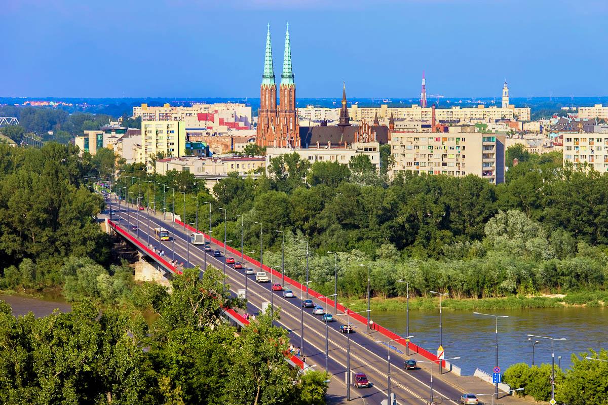 Blick über Warschau
