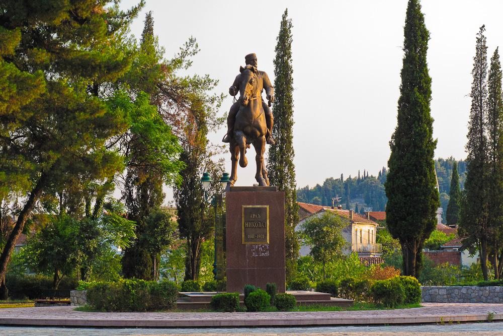 Denkmal: Nikola I (Fürst von Montenegro, 1841-1921) in Podgorica