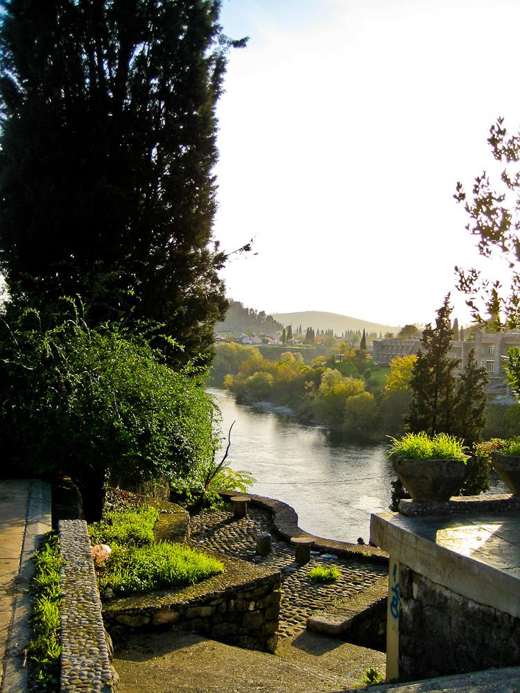 Fluss Moraca in Podgorica