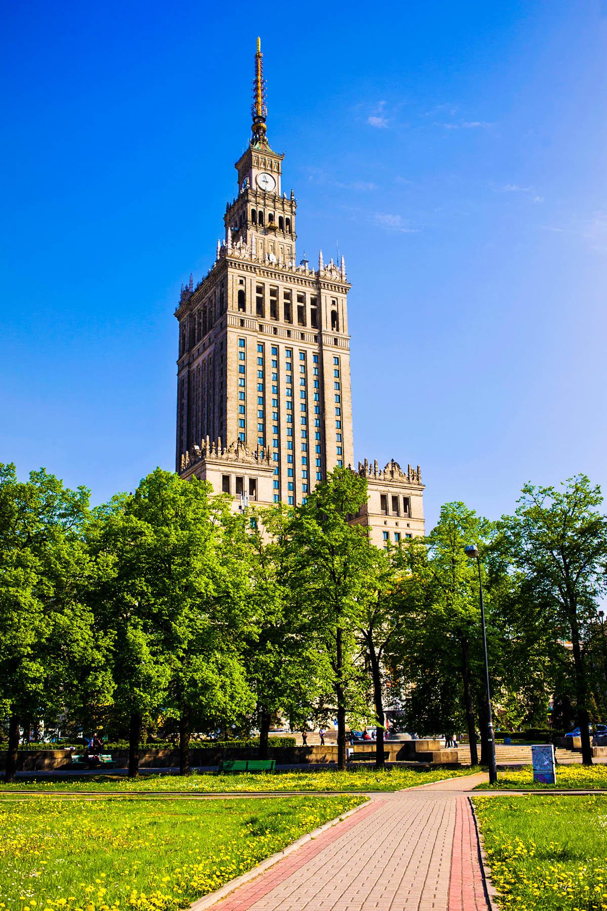 Stalinstachel: Kulturpalast in Warschau