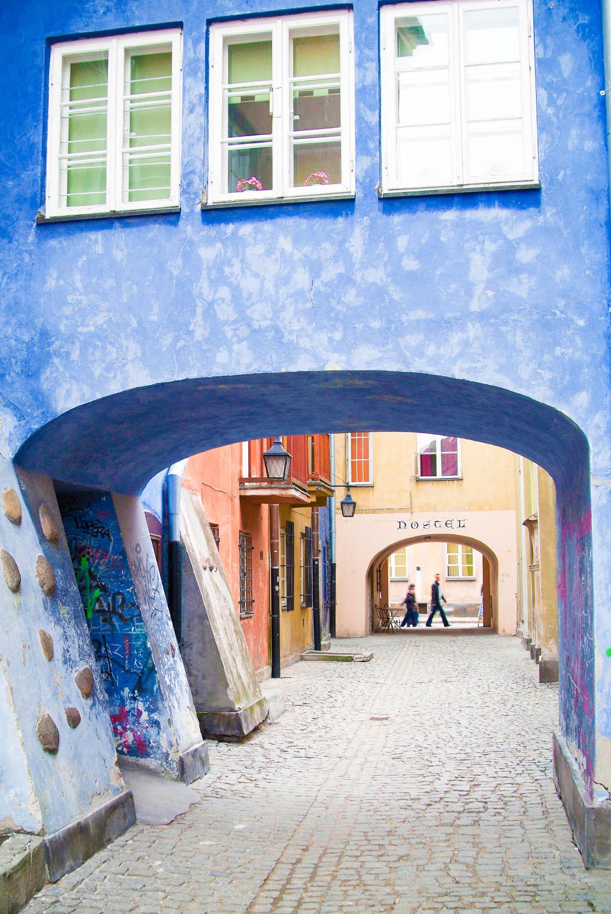Tor in der Altstadt von Warschau