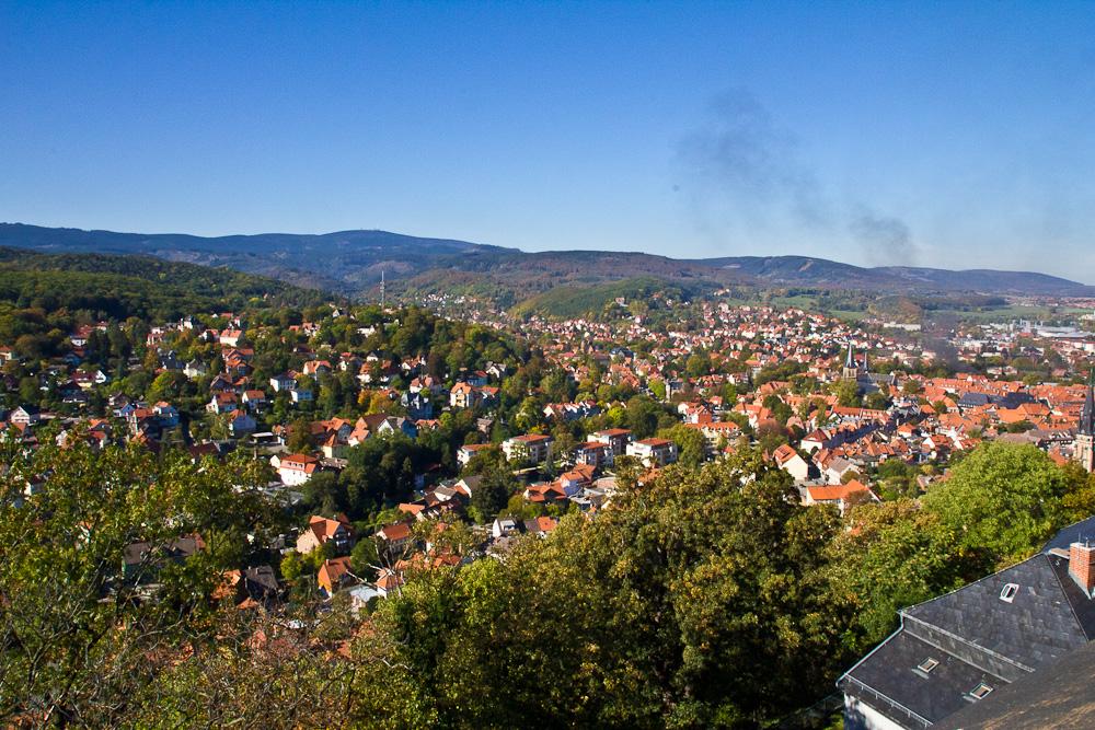 Blick vom Wernigeröder Schloß auf Wernigerode