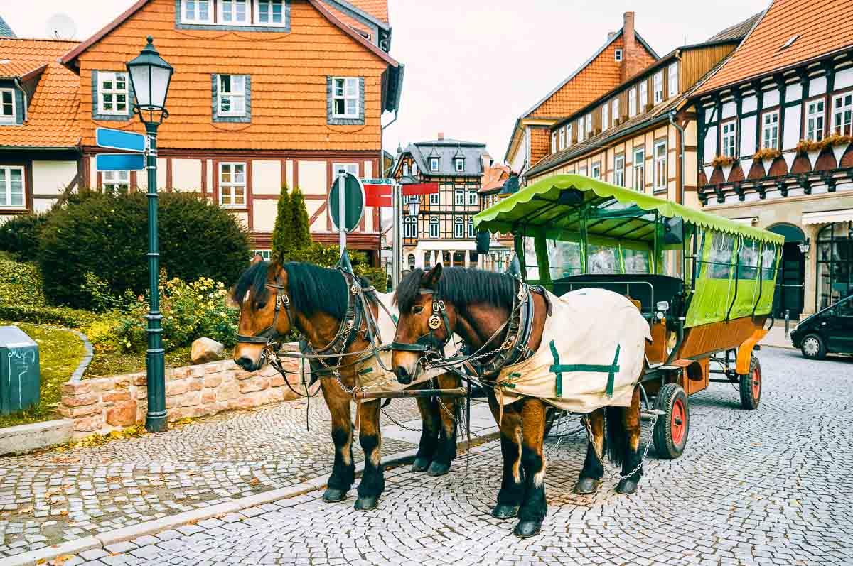 Pferdekutsche in Wernigerode
