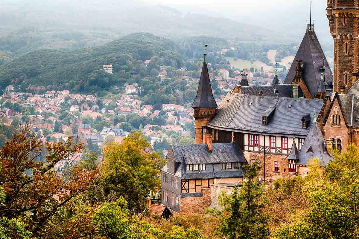 Blick vom Schloss in Wernigerode
