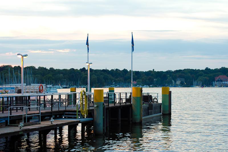 Anlegestelle für Ausflugsschiffe am Wannsee