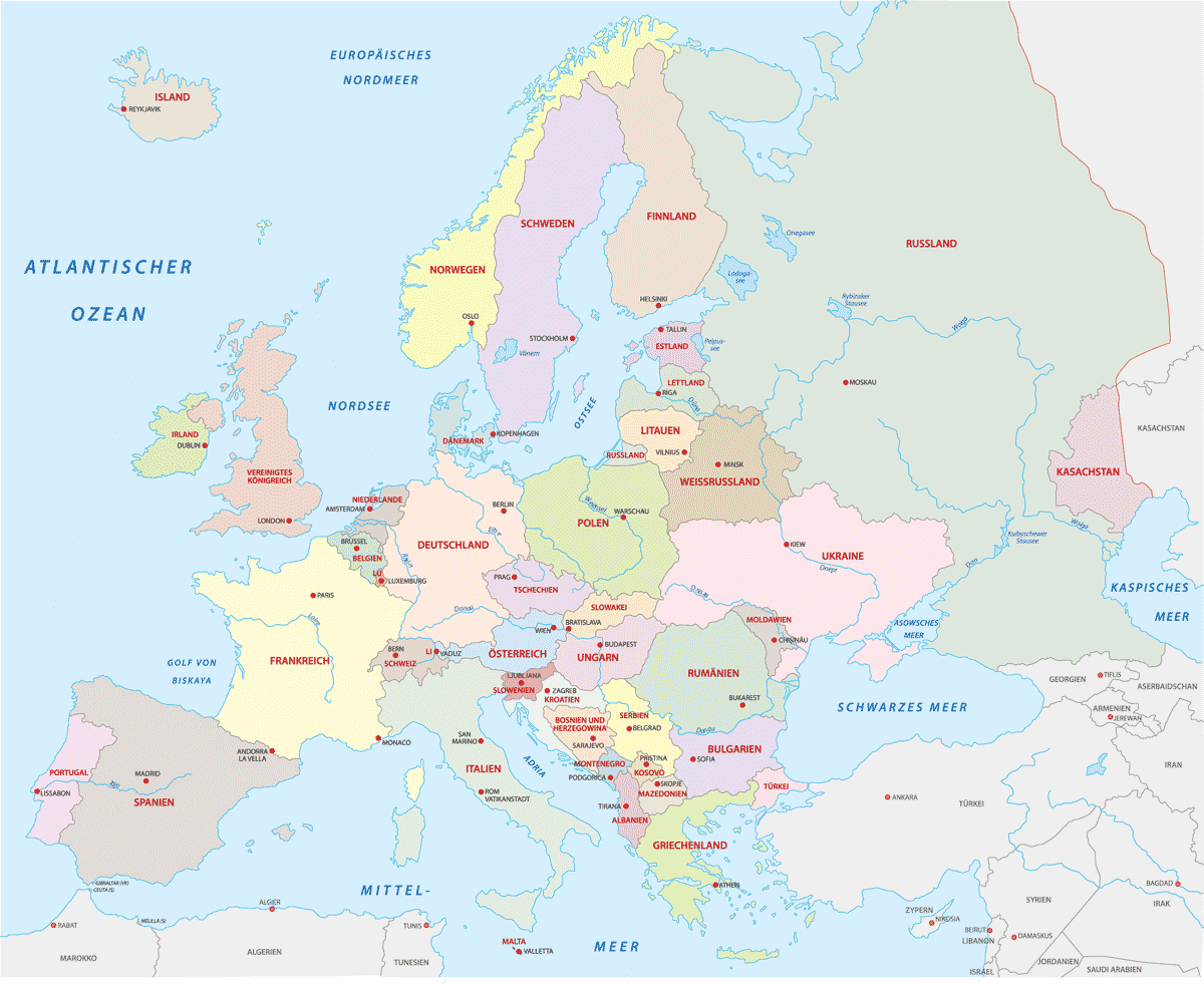 Karte: Griechenland - Lage in Europa