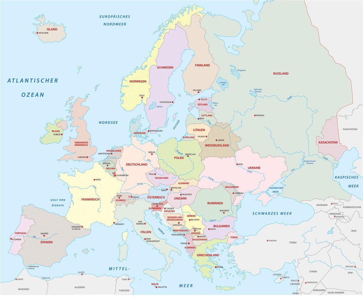 Karte: Italien - Lage in Europa