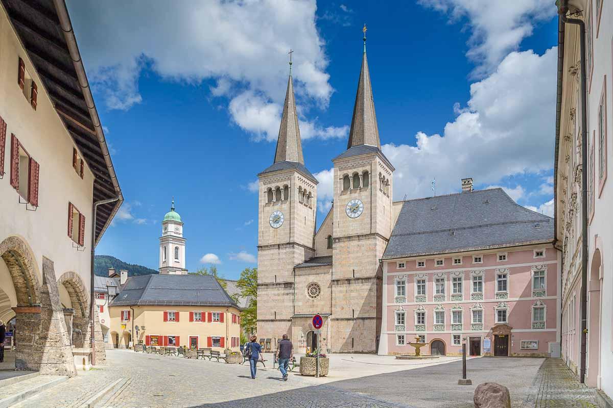 Marktplatz in Berchtesgaden, Bayern