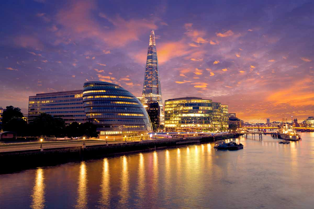 City Hall und The Shard in London
