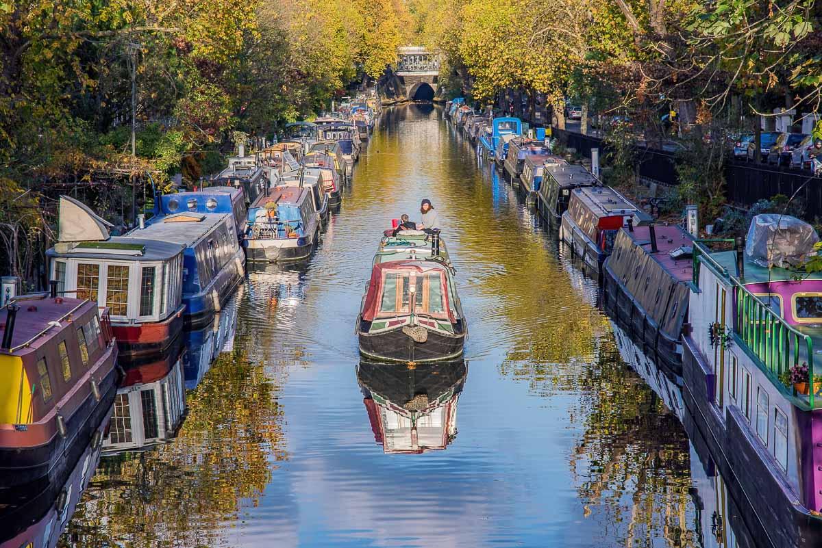 Regents Kanal in Little Venice in London