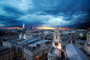 Blick über die Londoner Innenstadt
