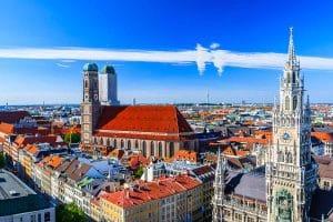 Blick über den Marienplatz in München