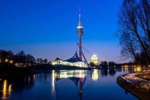 Olympiaturm in München, Bayern
