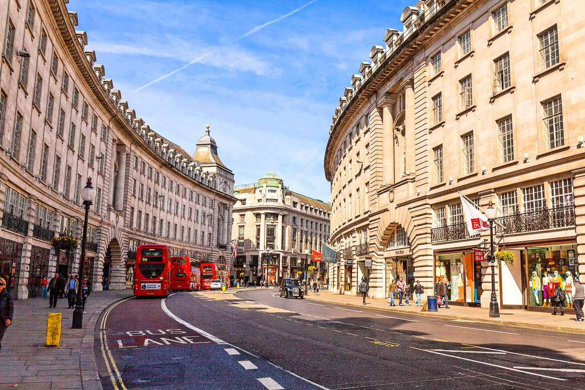Regents Street in London