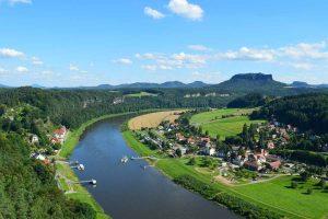 Blick über die Elbe bei Bad Schandau