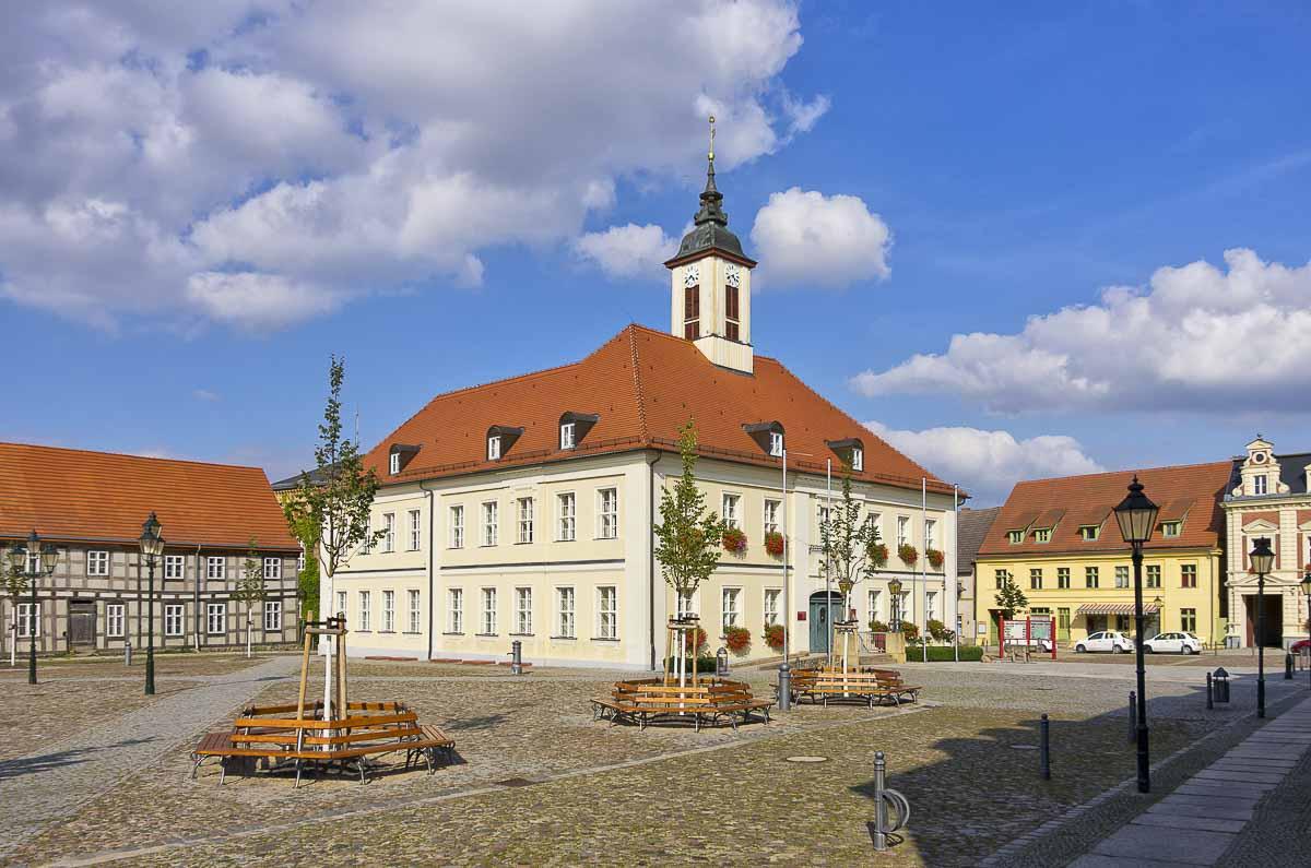 Marktplatz und Rathaus in Angermünde
