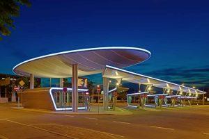 Busbahnhof in Halle an der Saale