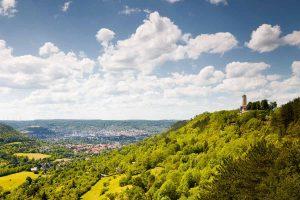 Fuchsturm und Blick auf Jena