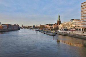 Die Weser in Bremen