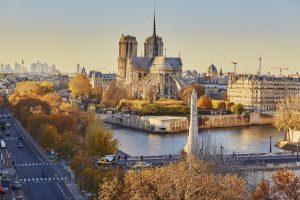 Blick auf die Seine und die Notre Dame