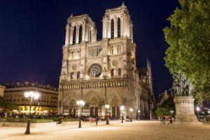 Notre Dame in der Nacht